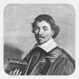Johannes Hoornbeek, engraved by Jonas Square Sticker