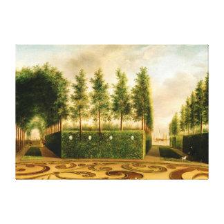 Johannes Janson A Formal Garden 18th Century Art Canvas Print