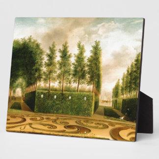 Johannes Janson A Formal Garden 18th Century Art Display Plaque