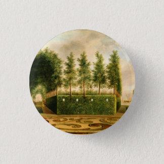 Johannes Janson A Formal Garden Vintage Painting Button
