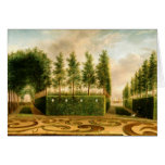Johannes Janson A Formal Garden Vintage Painting Greeting Cards
