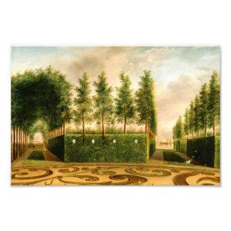Johannes Janson A Formal Garden Vintage Painting Photo Print