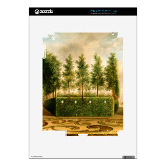 Johannes Janson A Formal Garden Vintage Painting iPad 2 Skins