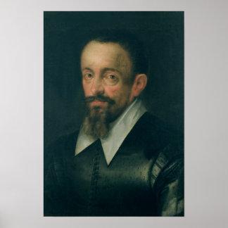Johannes Kepler, astrónomo, c.1612 Póster