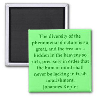 Johannes Kepler quote 2 Inch Square Magnet