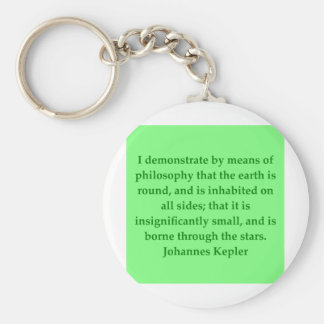 Johannes Kepler quote Keychain