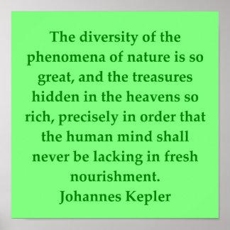 Johannes Kepler quote Poster