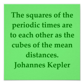 Johannes Kepler quote Posters