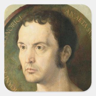 Johannes Kleberger, aged 40, 1526 Square Sticker