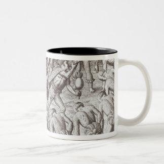 Johannes Lerii's Account of the Caraibe Indians Two-Tone Coffee Mug