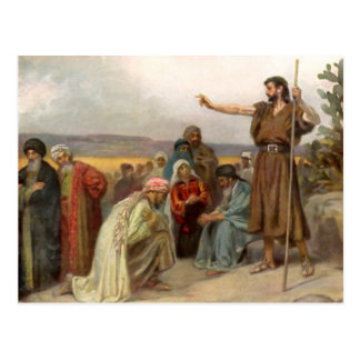 Johannes of the Baptists preaches in the desert Post Card