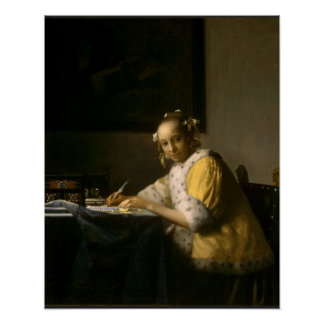 Johannes Vermeer, A Lady Writing a Letter Posters