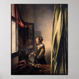 Johannes Vermeer, Girl Reading a Letter Poster