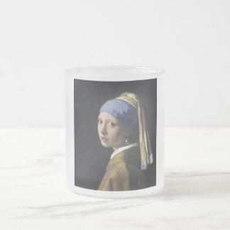 Johannes Vermeer - Girl with a Pearl Earring 10 Oz Frosted Glass Coffee Mug