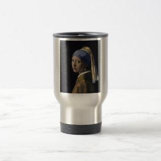 Johannes Vermeer - Girl with a Pearl Earring 15 Oz Stainless Steel Travel Mug