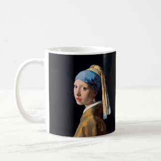 JOHANNES VERMEER - Girl with a pearl earring 1665 Coffee Mug