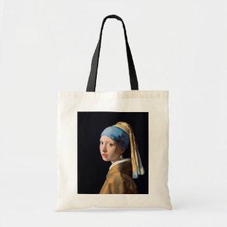 JOHANNES VERMEER - Girl with a pearl earring 1665 Tote Bag