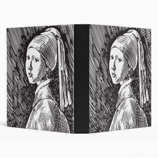 Johannes Vermeer Girl with a Pearl Earring 3 Ring Binder
