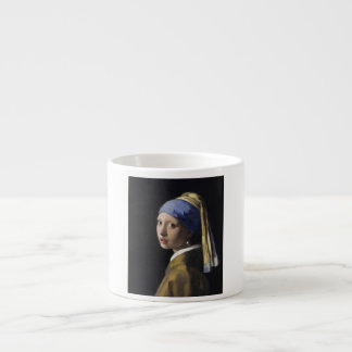 Johannes Vermeer - Girl with a Pearl Earring 6 Oz Ceramic Espresso Cup