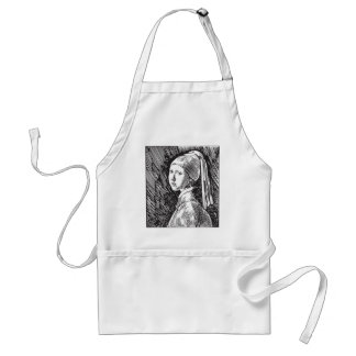 Johannes Vermeer Girl with a Pearl Earring Adult Apron