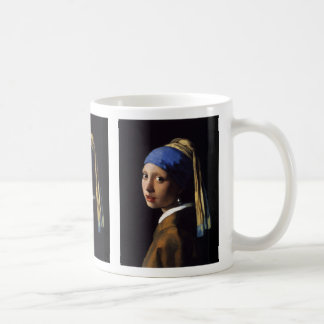 "Johannes Vermeer, ""Girl with a Pearl Earring"" Classic White Coffee Mug"