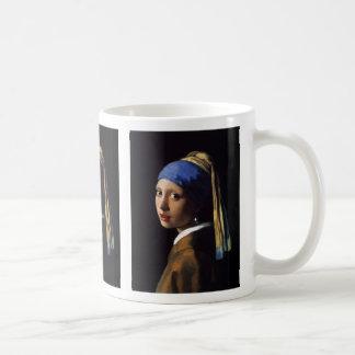 "Johannes Vermeer, ""Girl with a Pearl Earring"" Coffee Mug"