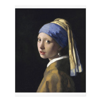 Johannes Vermeer - Girl with a Pearl Earring Full Color Flyer