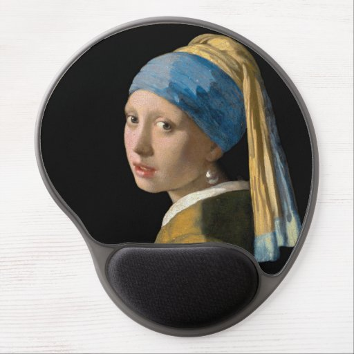 Johannes Vermeer - Girl with a Pearl Earring Gel Mouse Pad