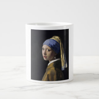 Johannes Vermeer - Girl with a Pearl Earring Giant Coffee Mug