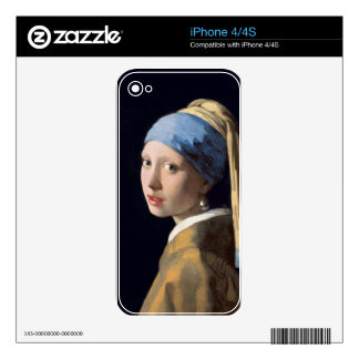 Johannes Vermeer - Girl with a Pearl Earring iPhone 4 Decal