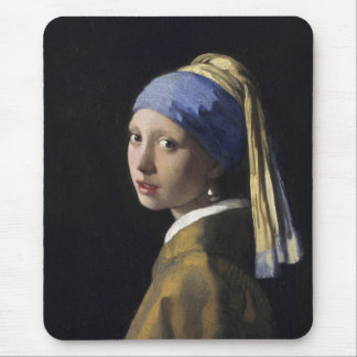 Johannes Vermeer - Girl with a Pearl Earring Mouse Pad