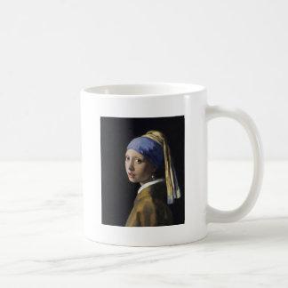 Johannes Vermeer - Girl with a Pearl Earring Coffee Mugs