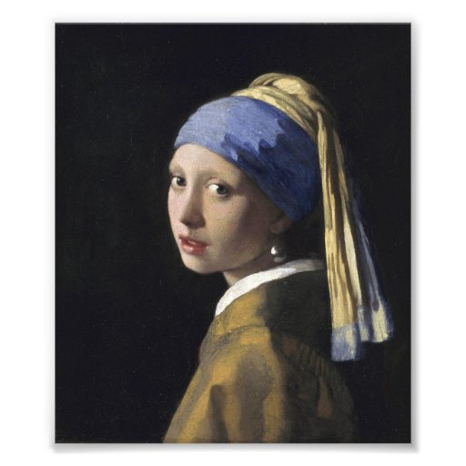 Johannes Vermeer - Girl with a Pearl Earring Photograph