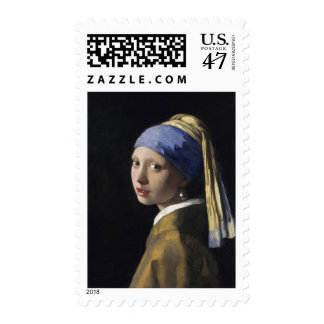Johannes Vermeer - Girl with a Pearl Earring Stamp