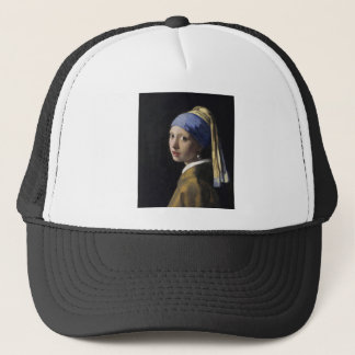 Johannes Vermeer - Girl with a Pearl Earring Trucker Hat