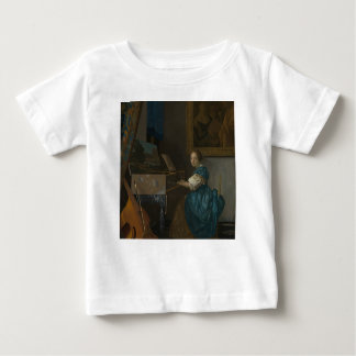 Johannes Vermeer - Lady Seated at a Virginal Baby T-Shirt
