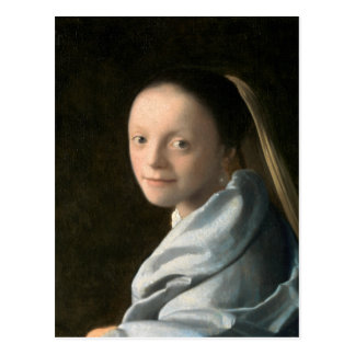Johannes Vermeer Study of a Young Woman Postcard