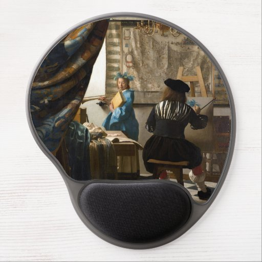 Johannes Vermeer - The Allegory of Painting Gel Mouse Pad