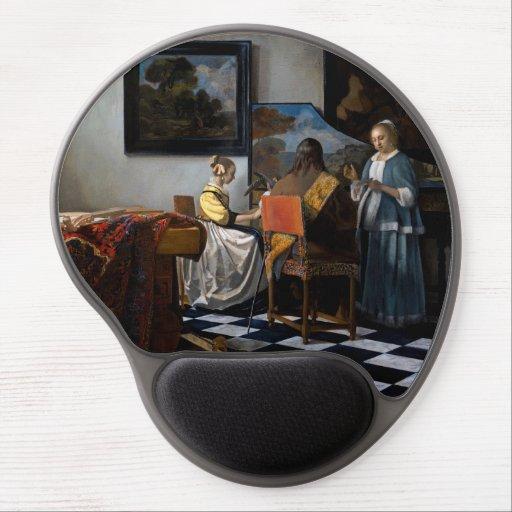 Johannes Vermeer - The Concert Gel Mouse Pad