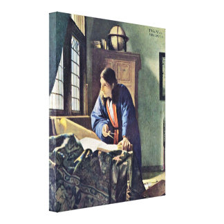 Johannes Vermeer - The Geographer Canvas Print