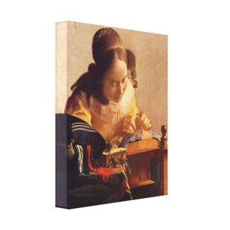 Johannes Vermeer - The Lacemaker Canvas Print