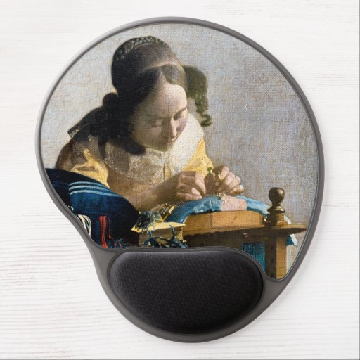 Johannes Vermeer - The Lacemaker Gel Mouse Pad