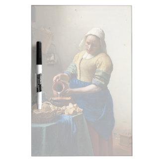 JOHANNES VERMEER - The milkmaid 1658 Dry-Erase Board