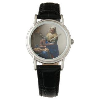 JOHANNES VERMEER - The milkmaid 1658 Watch