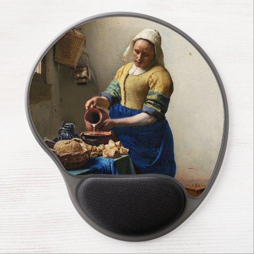 Johannes Vermeer - The Milkmaid Gel Mouse Pad