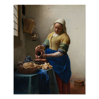 Johannes Vermeer, The Milkmaid Poster