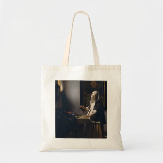 Johannes Vermeer- Woman Holding a Balance Tote Bag