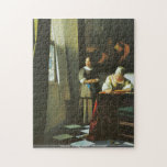 Johannes Vermeer - Woman with messenger Puzzle