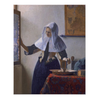 Johannes Vermeer, Young Woman with a Water Jug Posters