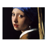 Johannes Vermeer's Girl with a Pearl Earring Postcards